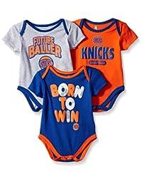 """NBA by Outerstuff NBA 新生婴儿和婴儿""""Little Fan""""连体衣 3 件套"""