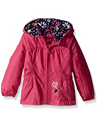 London Fog Girls Floral Printed Fleece Lined Jacket