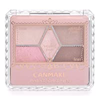 CANMAKE井田雕刻裸色珠光5色显色眼影盘 10 Sweet Flamingo 日本