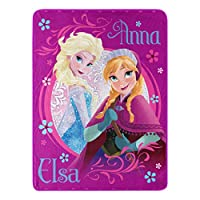 Disney Frozen Loving Sisters Micro Raschel Throw, 46X60-Inch