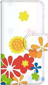 智能手机壳 手册式 对应全部机型 印刷手册 wn-533top 套 手册 花朵图案 UV印刷 壳WN-PR247903-S MEDIAS WP N-06C 图案G