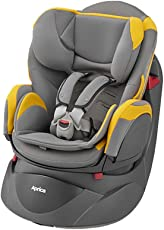 Aprica 阿普丽佳 可座可躺婴儿汽车安全座椅 乐酷哆汽车座椅(黄色)(适合0-4岁宝宝,五点式安全带,单手单键操控阀)