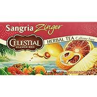 Celestial Seasonings Herbal Tea, Sangria Zinger, 20 Count (Pack of 6)