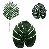 大号人造棕榈叶人造热带植物叶 怪物叶 野生叶 夏威夷路观派对供应商 丛林海滩桌假装饰
