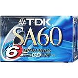 TDK SA-60S 盒式盒式磁带附加包