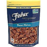 FISHER Chef's Naturals Pecan Halves, No Preservatives, Non-GMO, 24 oz