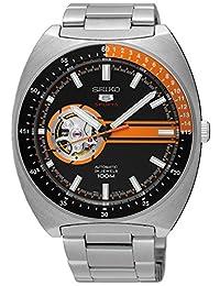 Seiko 男士模拟自动手表不锈钢表链 - SSA331K1