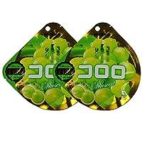 UHA 味觉糖 酷咯咯葡萄口味果汁软糖(绿葡萄) 40g*2(日本进口)(促销+8g随机发货)