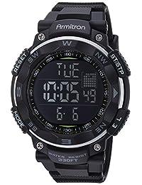 Armitron Sport 男士 40/8254BLK 黑色数字计时手表