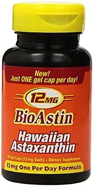 Nutrex Hawaii BioAstin奥斯汀 夏威夷虾青素12毫克 50粒 3个装