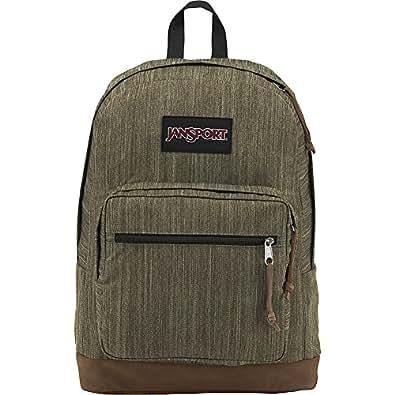 JanSport Right Pack Laptop Backpack- Sale Colors Army Green Melange 均码
