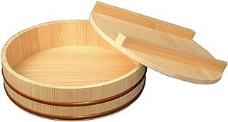 雅马高 《寿司桶》 天然木寿司饭盒带盖直径33 (约5合)