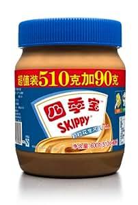 SKIPPY 四季宝颗粒花生酱超值装(510g+90g)600g