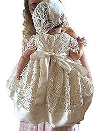 Aorme 洗礼礼服蕾丝洗礼礼服女孩连衣裙 0-24 个月