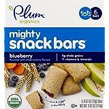 Plum Organics 非凡 4 种营养 能量棒 食品 蓝莓 胡萝卜 0.67 盎司 (约 19 克) 6 包装