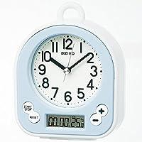 SEIKO CLOCK 挂钟 生活防水 计时显示 模拟 厨房和浴盆 浅蓝色 BZ358L