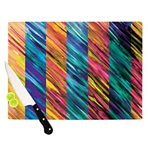 Kess InHouse Theresa Giolzetti Cutting Board, 11.5 by 8.25-Inch, Stripes I