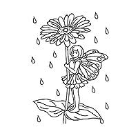 "Darice""精致的野花""浮雕文件夹,透明/白色,10.8 x 14.8 厘米 透明/白色 4.25 x 5.75-Inch 30008396"