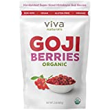 Viva Naturals Premium Himalayan Organic Goji Berries, Noticeably Larger and Juicier, 2lb