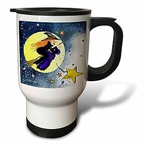 3dRose Halloween Witch Travel Mug, 14-Ounce