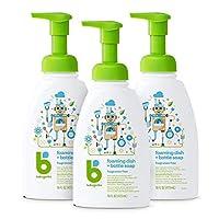 BabyGanics 泡沫餐具皂,16 盎司泵瓶(3 瓶装), 不含香料, 3 (包装可能更替)