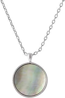 [MARC JACOBS] MARC JACOBS Medalion 两面用 挂坠 项链 银色 Medallion MOP Double Sided Pendant Silver M0014166-040