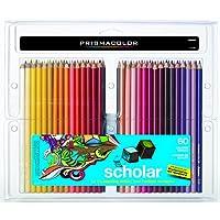 Prismacolor 三福霹雳马 Scholar 60支彩铅套装 彩色铅笔 油性铅笔 硬质芯材 学院绘画