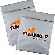Phoenix Guard 两包 Fireproof 防火袋 | 文件袋可用于装钱、护照、身份证、结婚、银行和房子记录|阻燃剂,防水袋(TWO-9x12,灰色)