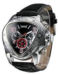 Gosasa 男式超大独特风格三角表盘自动机械皮革表带手表