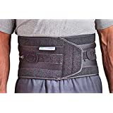 Aspen QuikDraw PRO Back Brace for Lumbar Support Provides Stability, Compression and Comfortable Fit for Active Lifestyles (Black, Large)
