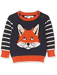 Hatley 男婴毛衣套衫,蓝色(Clever Fox 400),9-12 个月(尺码:9M-12 个月)