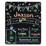 40.64 厘米 x 50.80 厘米彩色您自己的生日里程碑黑板风格照片道具 适用于婴儿和幼儿 - 可重复使用的黑板