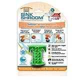 SinkShroom The Revolutionary Sink Drain Protector Hair Catcher/Strainer/Snare, Green