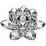 """3"""" Amlong Crystal Clear Crystal Lotus Flower With Gift Box"""