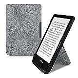 kwmobile Origami 保护套适用于 Pocketbook Touch Lux 4/Basic Lux 2/Touch HD 3 - 超薄款高级 PU 皮套带支架 - 深粉色/无烟煤色47691.25_m000408 .Felt light grey