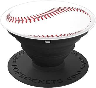 棒球白红黑色 - 送给爱棒球者的 PopSockets 手机和平板电脑的*选择260027  黑色