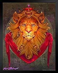 创作的《野兽*》海报 Renee Biertempfel 幻想艺术狮子 裱框海报 14x20 inches 290063