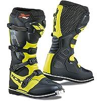 TCX 男士 X-Blast 越野摩托车靴 - 黑色/黄色 Fluo 尺码 40