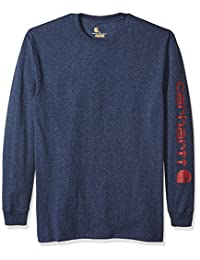 Carhartt 男式 Big & Tall 签名袖标志长袖 T 恤 原创版型 K231
