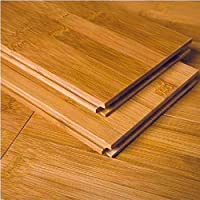 AMERIQUE GLHCL9609615 单箱预制实心竹地板水平,覆盖范围:23.81SQFT 板:8.89cm x 1.59cm x 93.98cm x 93.98cm,水平碳化,23 平方英尺