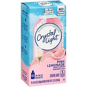 Crystal Light 粉色柠檬果汁粉 便携装,6盒装(10条/盒)