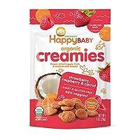 Happy Baby 禧贝 奶油冻干蔬菜水果零食 椰奶&草莓&覆盆子&胡萝卜混合口味 28g*8包装