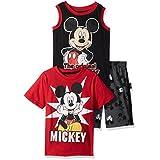 Disney 男孩 Mickey 短裤套装 3 件套