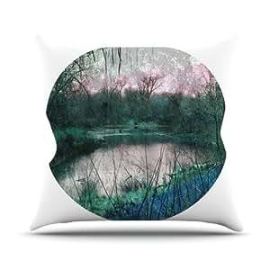 Kess InHouse Micah Sager Swamp Lake Circle 户外抱枕,50.8 x 50.8 厘米