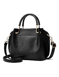 Nevenka 女士钱包和手提包斜挎包三层皮革挎包
