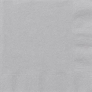 20 Count Luncheon Napkins, Silver