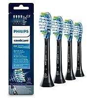 Philips 飞利浦Sonicare 原装卡入式 刷头 优质 防护 HX9044 / 33,10倍去除牙菌斑,RFID芯片,4件装,标准,黑色