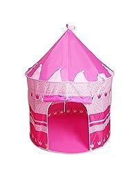 kavar 米良品 儿童室内帐篷玩具屋 王子蒙古包公主城堡帐篷儿童游戏屋爬行屋 (粉红)