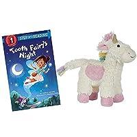 Maison Chic 出品的 Hug the Belly Unicorn 填充动物牙齿仙女枕,配有 Tooth Fairy 的夜书套装礼品套装