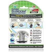 SinkShroom 超革命性浴室水槽排水保护器,不锈钢